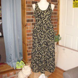 Who What Wear Floral Print Sleeveless Dress M